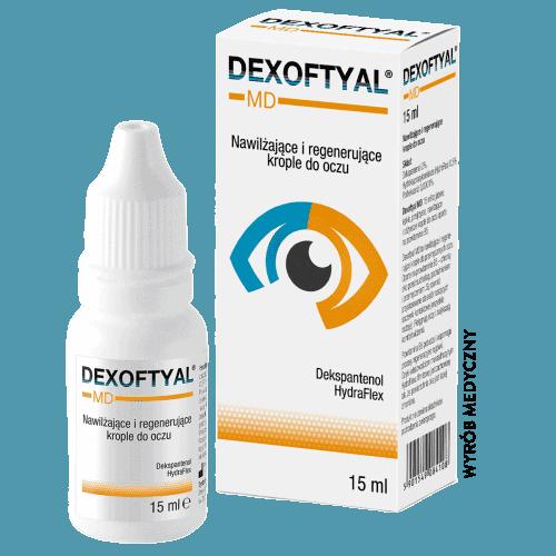 Nawilżające i regenerujące krople do oczu Dexoftyal dla suchych, podrażnionych oczu