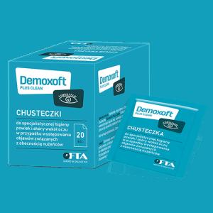 demoxoft plus clean chusteczki do specjalistycznej higieny powiek i skory wokol oczu